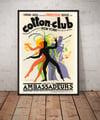 The Cotton Club | Jean Mercier | 1937 | Wall Art Print | Vintage Travel Poster