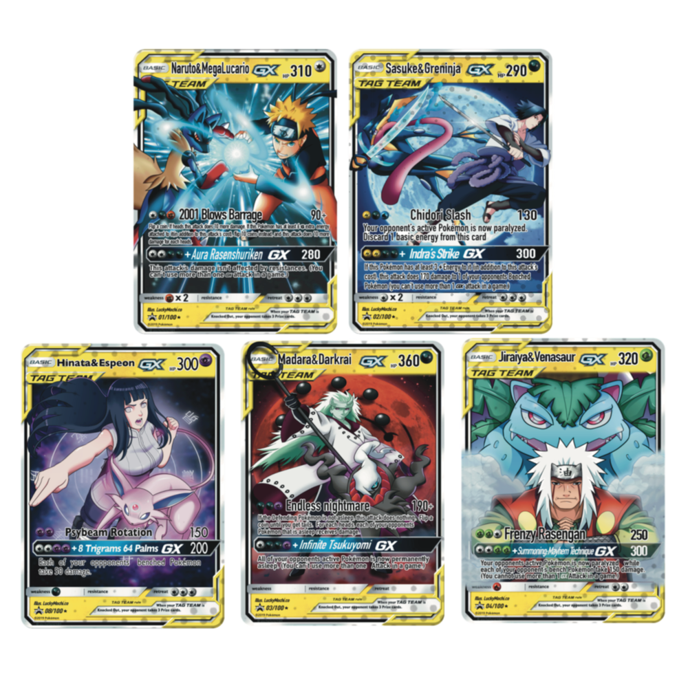Image of Custom Naruto x Pokémon cards