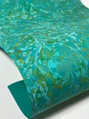 Marbled Paper Marrs Green II - 1/2 sheets