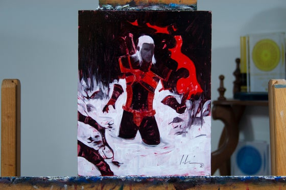 Image of The Witcher, Fading Memories #4 PRELIMINARY OIL STUDY