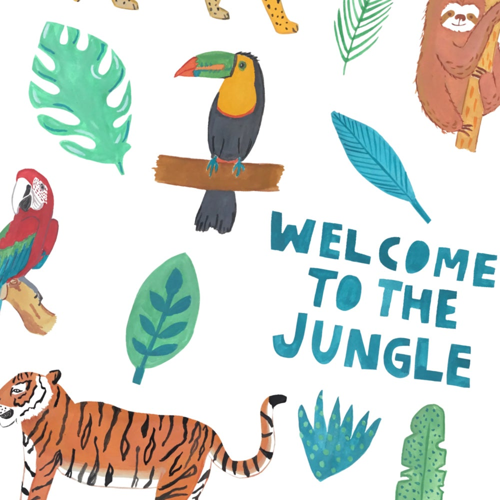 Image of Welcome To The Jungle print