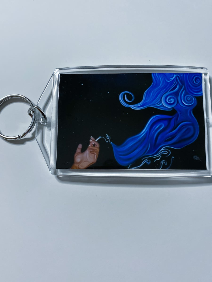 """Image of """"Genie In A Blunt"""" Keychain"""