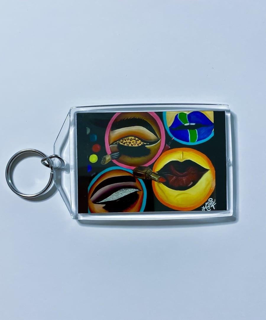 "Image of ""MUA"" Keychain"