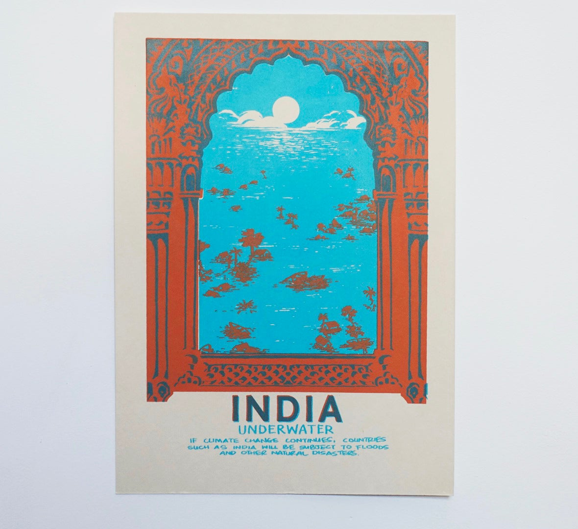 """India"" Screenprint"