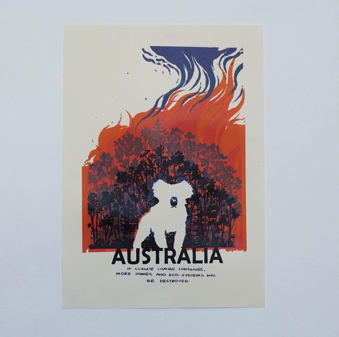 """Australia"" Screenprint"