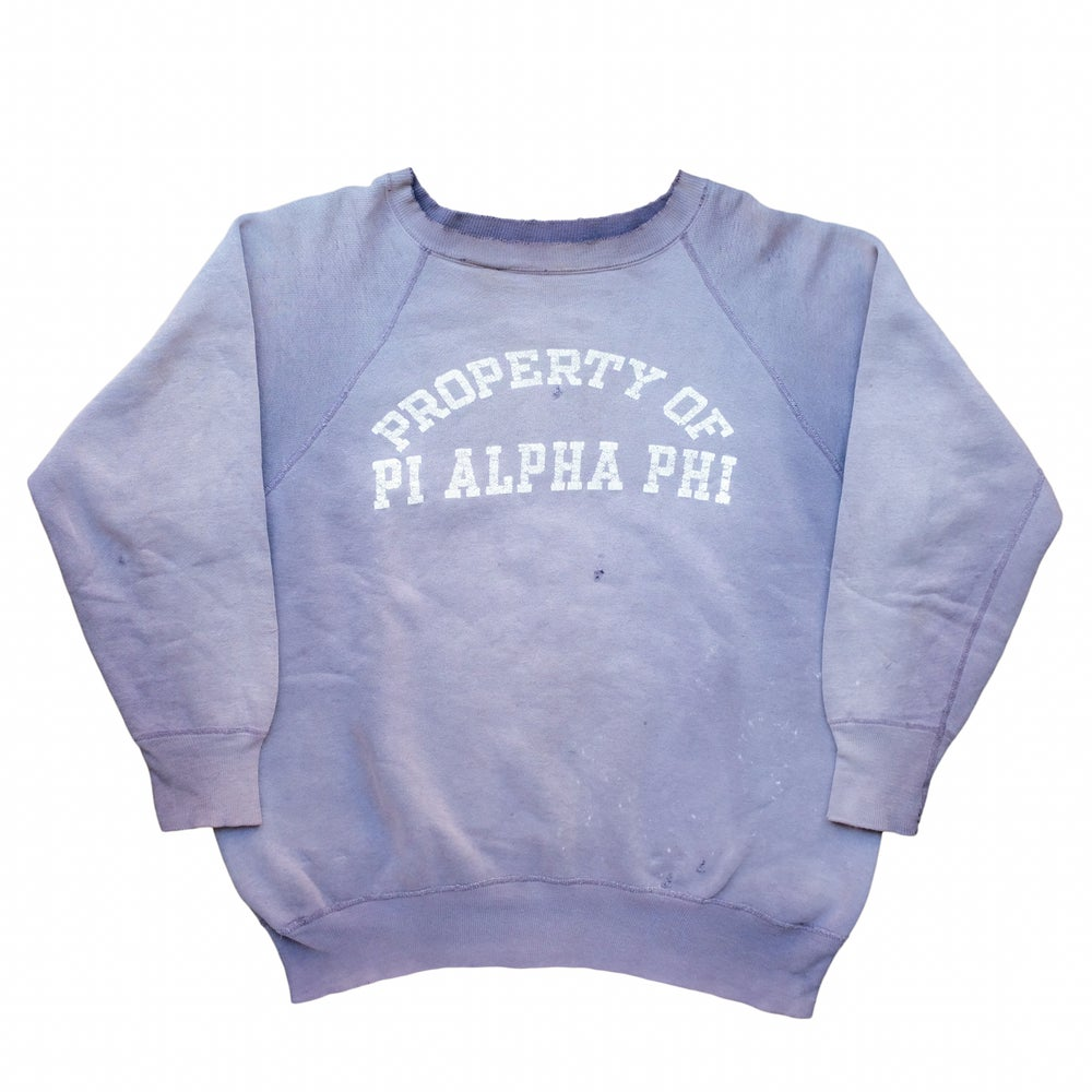 Image of Vintage 50s/60s Sunfaded Fraternity Sweatshirt
