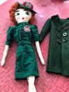 1940s style WVS  uniform Rag Doll