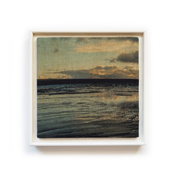 Image of Beachscape - original framed linen wall work
