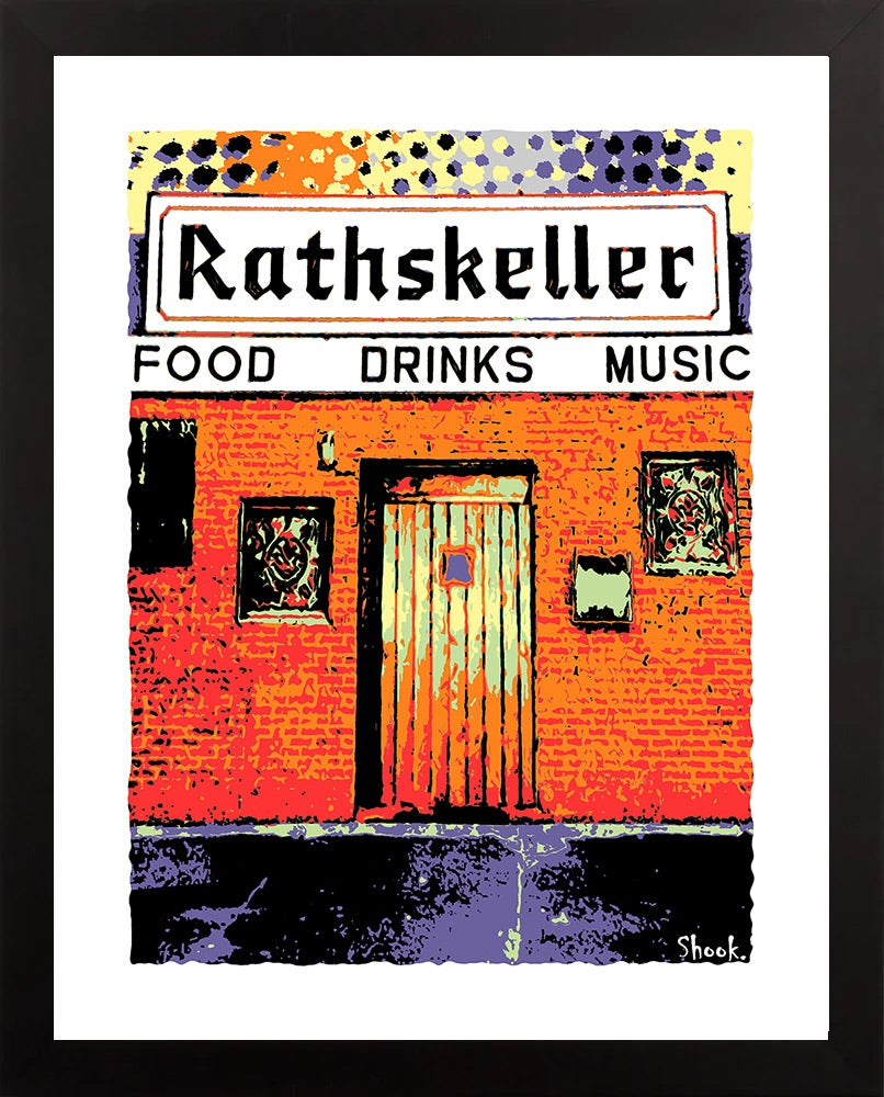 "The Rathskeller Boston 2021 Colors Giclée Art Print - 11"" x 14"""
