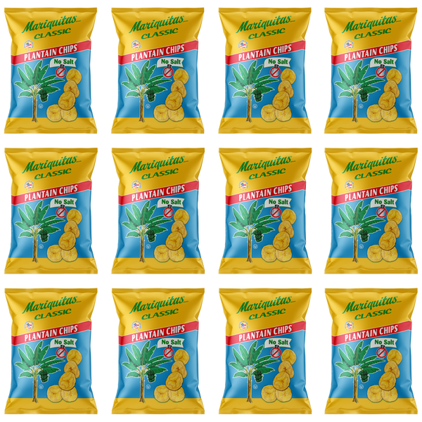 Image of Mariquitas Plantain Chips No Salt (5oz, 12 pack)