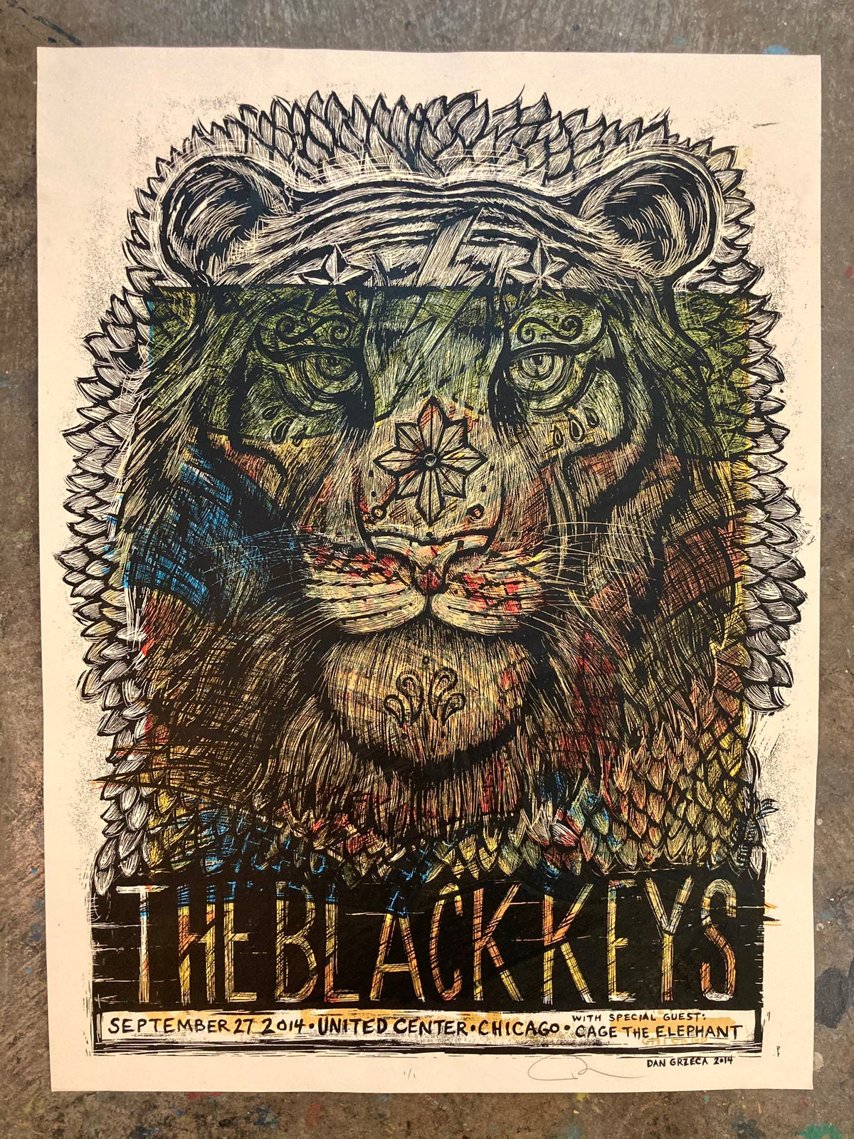 Test Print Black Keys F