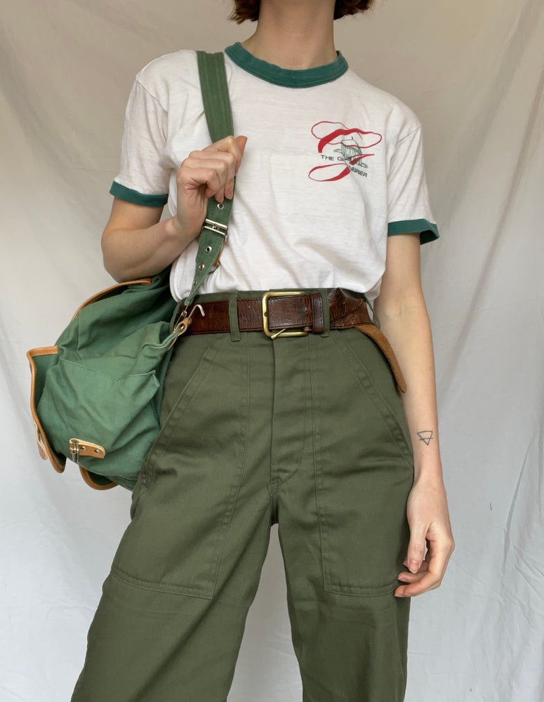 Image of Green Ringer Tee