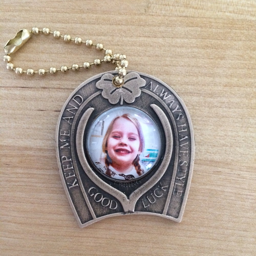 GOOD LUCK PERSONALIZED PHOTO KEYFOB