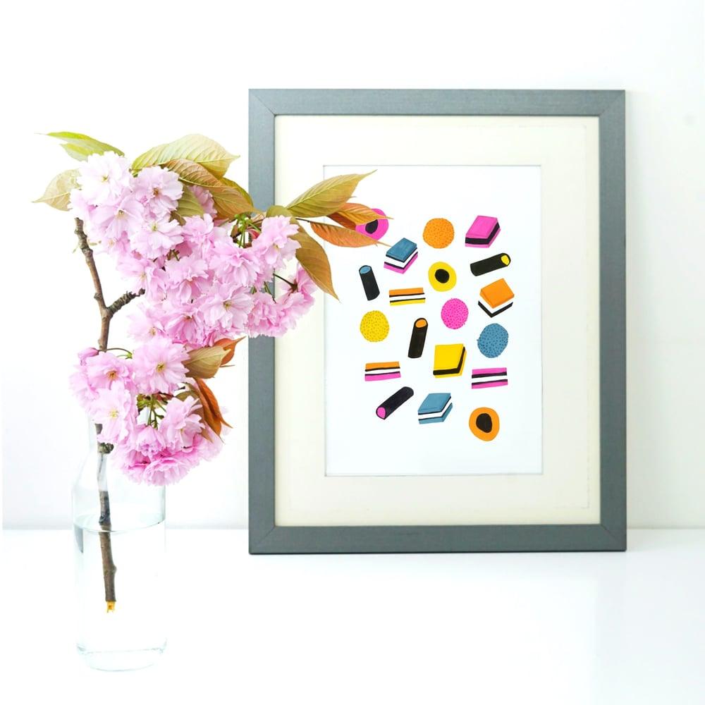 Image of Liquorice Allsorts print