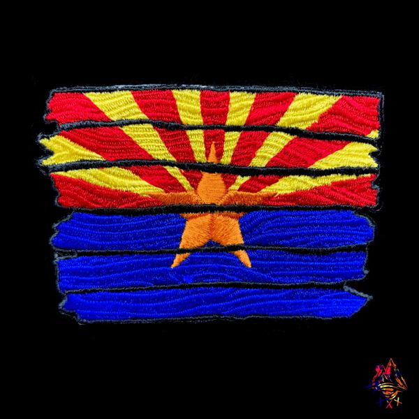 Image of Wooden AZ Flag