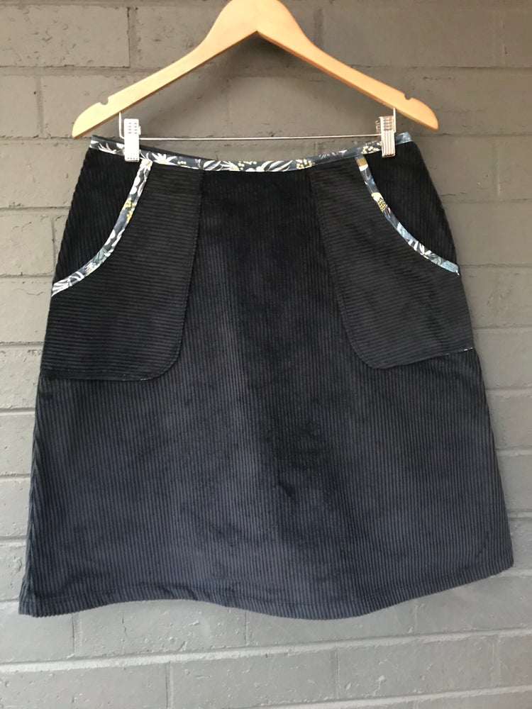 Image of KylieJane pocket skirt - navy corduroy