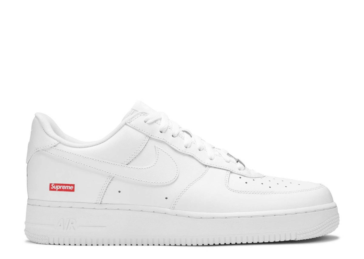 Image of SUPREME X AIR FORCE 1 LOW 'BOX LOGO - WHITE'