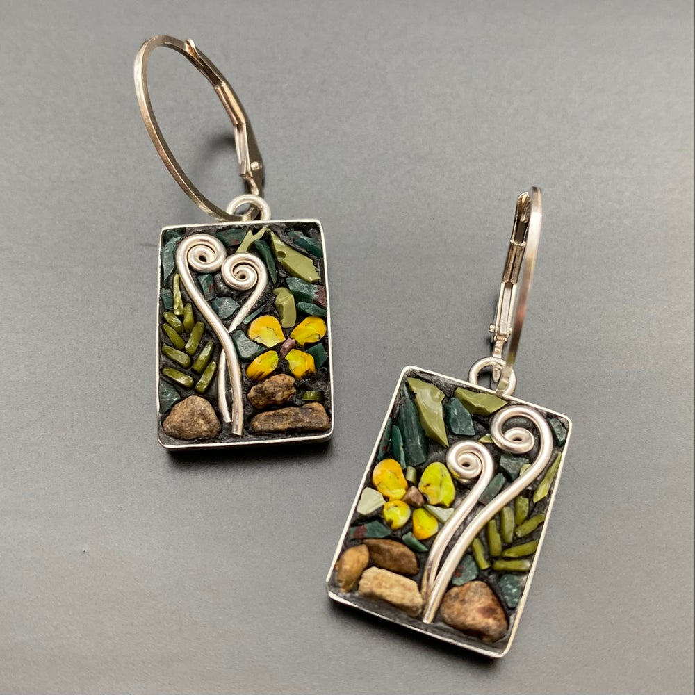 Image of Yellow Violet Earrings