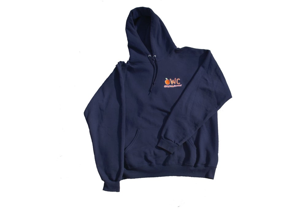 Image of Navy [PRE ORDER] EMBROIDERED Hoodie