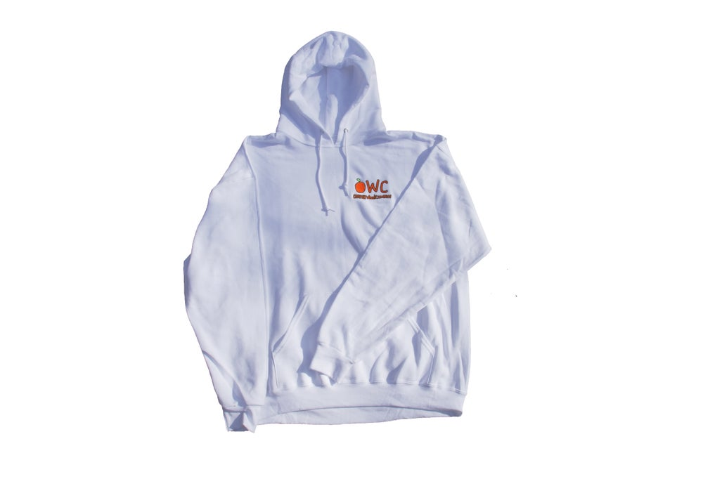 Image of WHITE [PRE ORDER] EMBROIDERED Hoodie