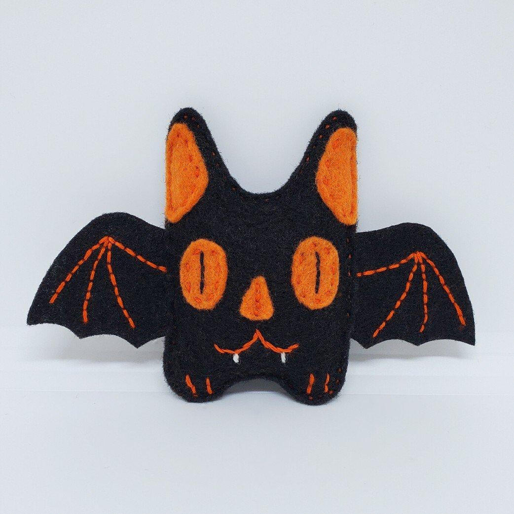 Teeny Black & Orange Bat