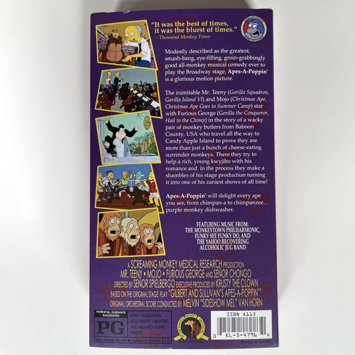 Image of Apes-A-Poppin' VHS