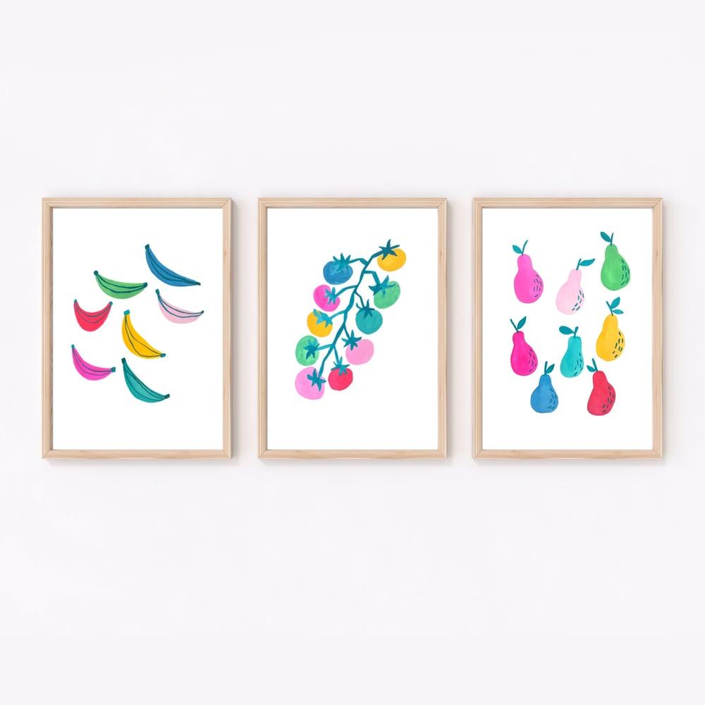 Image of Rainbow Pears print