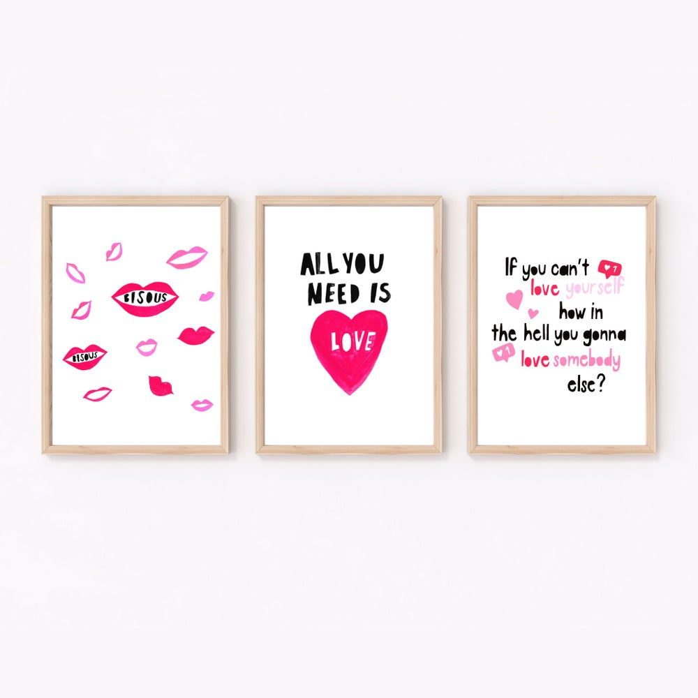 Image of Bisous (Kisses) print