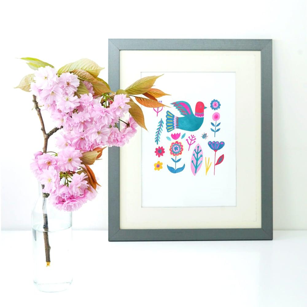 Image of Bright Folk Art print