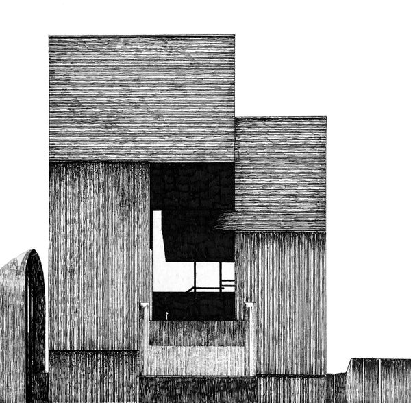 Image of ORIGINAL Tricorn Centre pen and ink study 3.