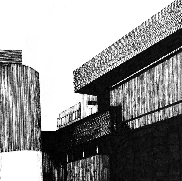 Image of ORIGINAL Tricorn Centre pen and ink study 5