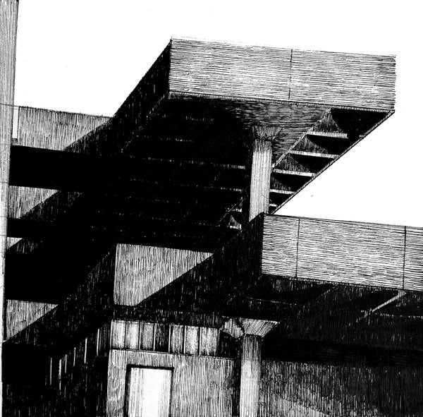 Image of ORIGINAL Tricorn Centre pen and ink study 6.