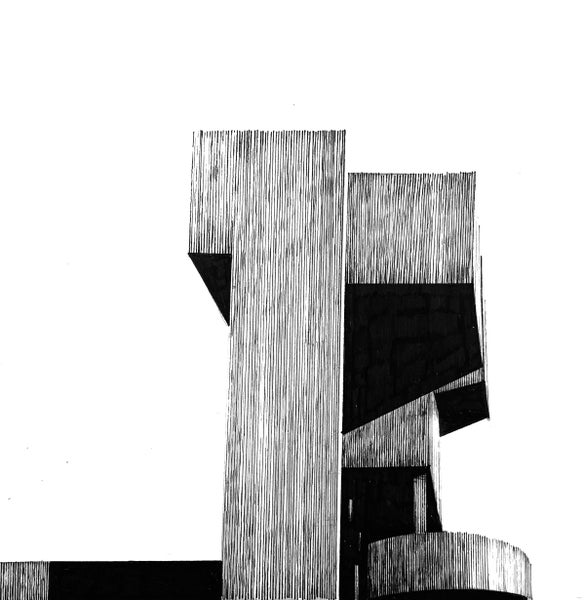 Image of ORIGINAL Tricorn Centre pen and ink study 9.