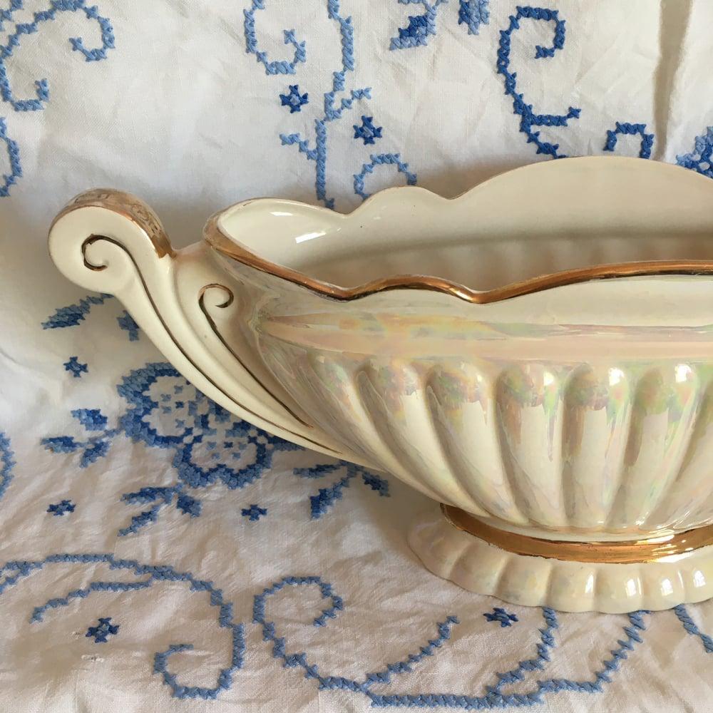 Image of Large lustreware mantle vase