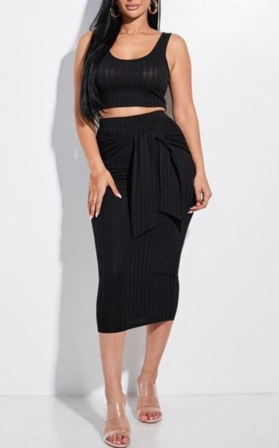 Image of Ribbed 2 piece set