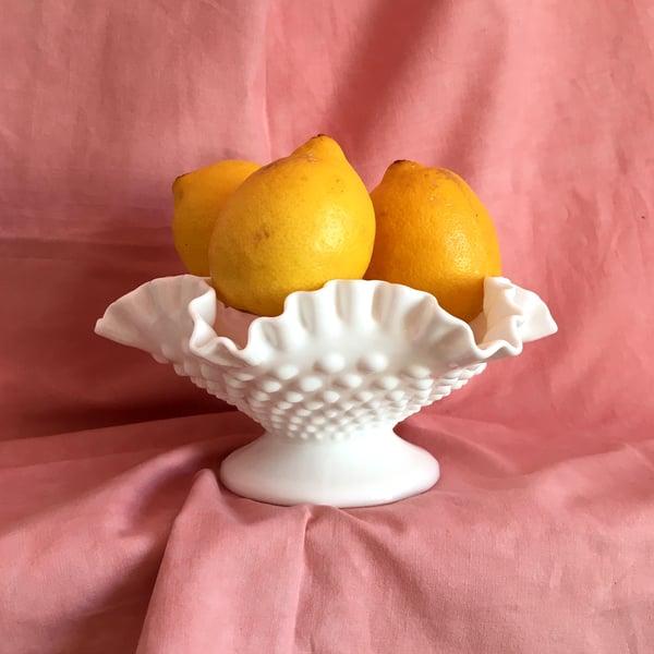 Image of Milk glass pedestal dish