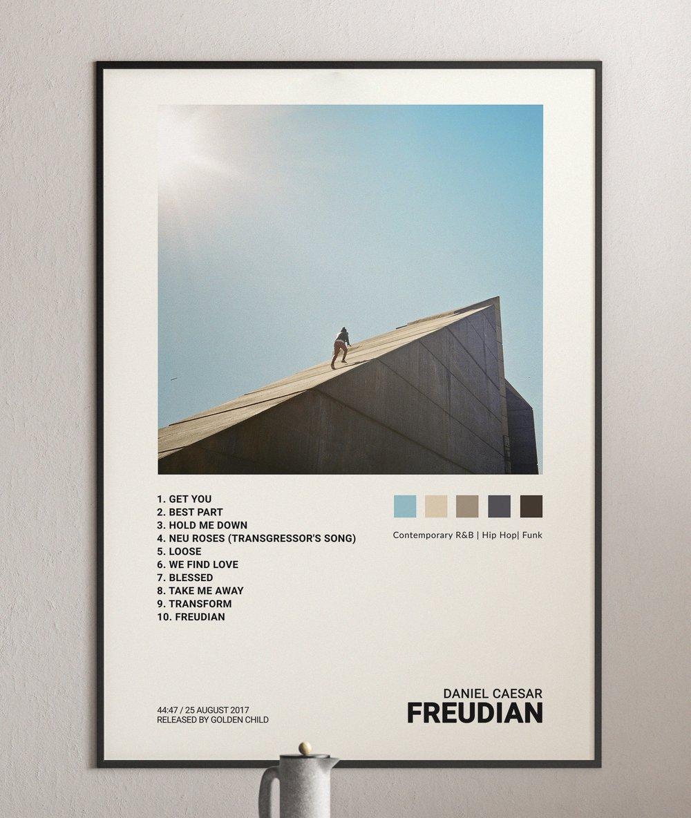 Daniel Caesar - Freudian Album Cover Poster Print