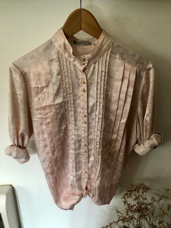 Image of  Blouse vintage rose « dragée »