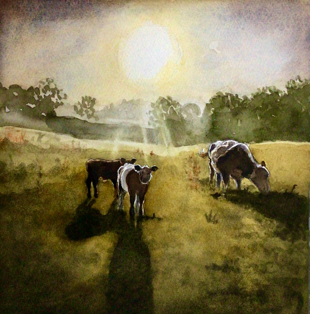 Image of 'Cattle at Dawn' (giclee print)