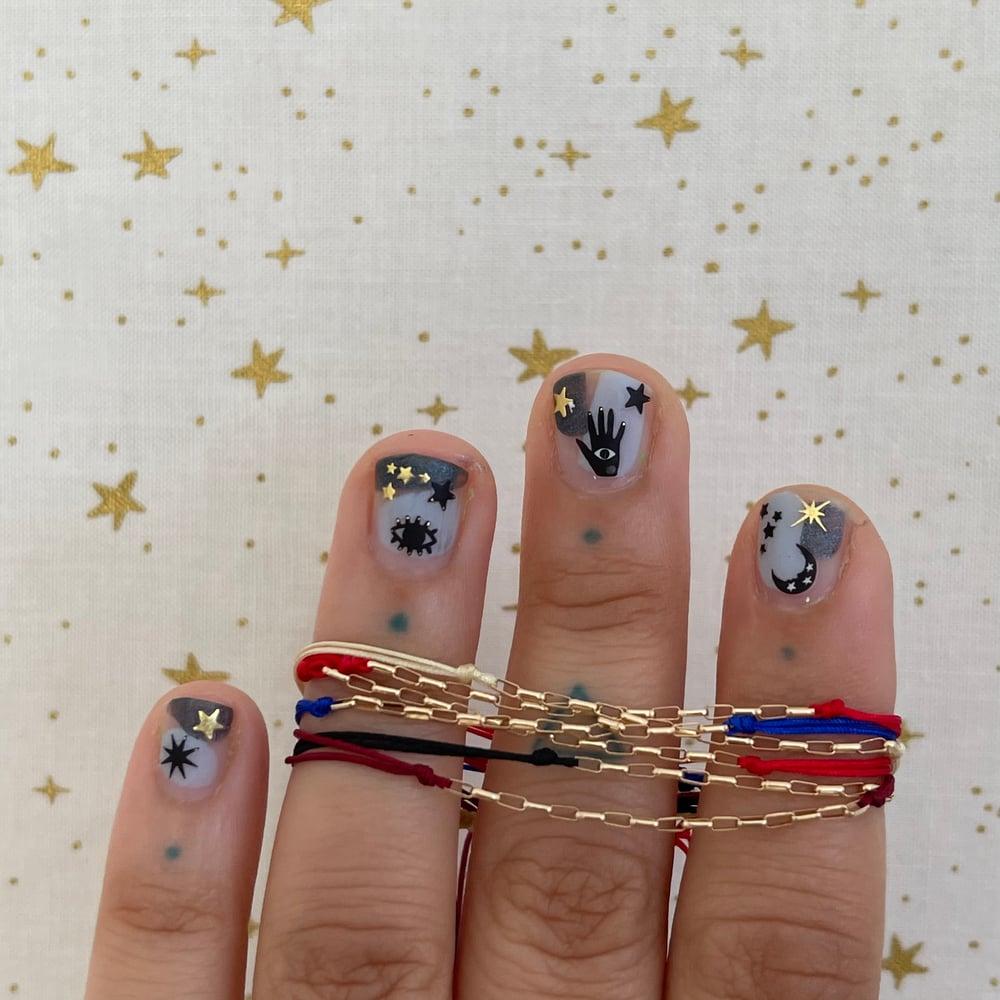 Image of long link chain bracelet