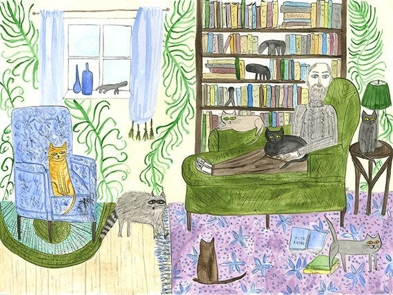 Image of Edward at home, 8 Strawberry Lane, Yarmouth, MA. Limited edition print.