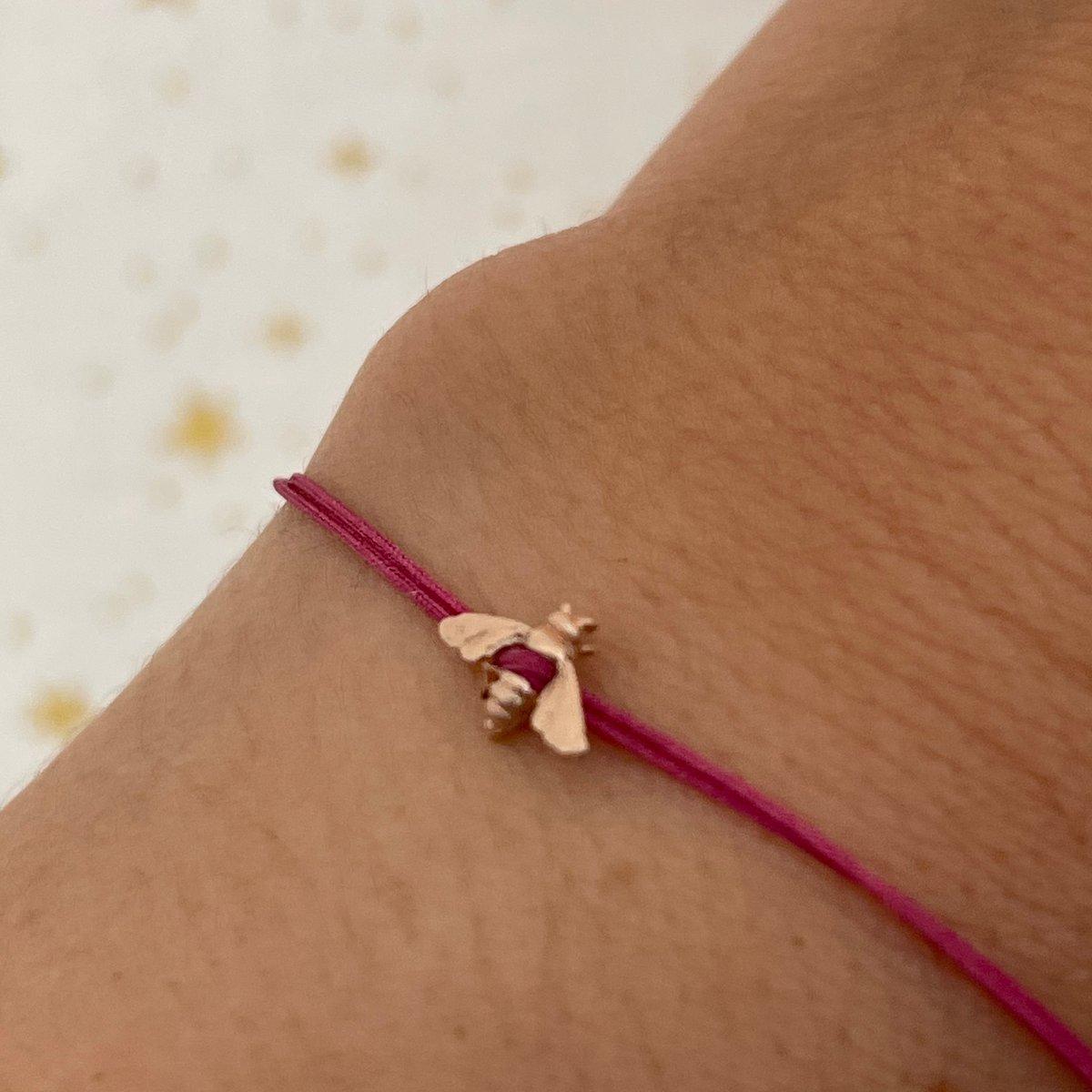 Image of gold bee bracelet