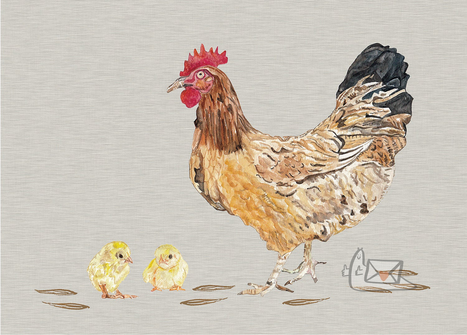 Hen and Chicks by Lisa Green Designs