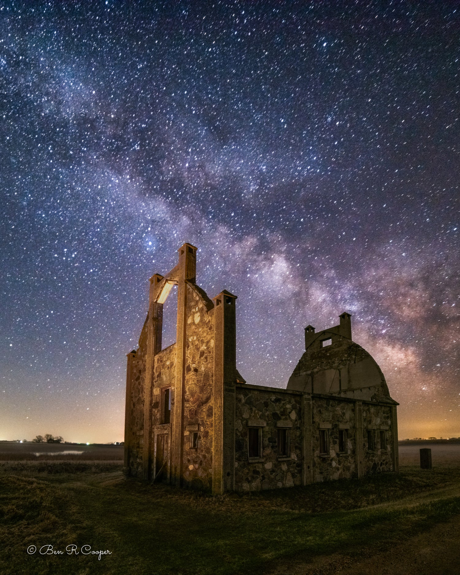 Starry Night Over the Stone Barn