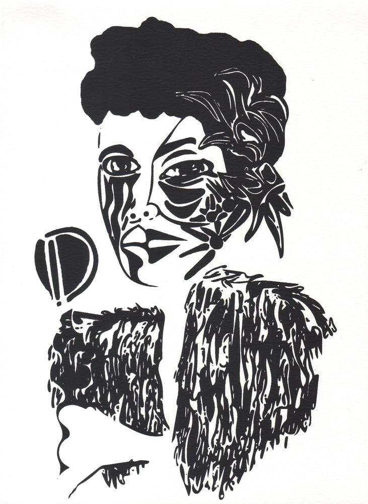 Image of Billie Holiday Screenprint