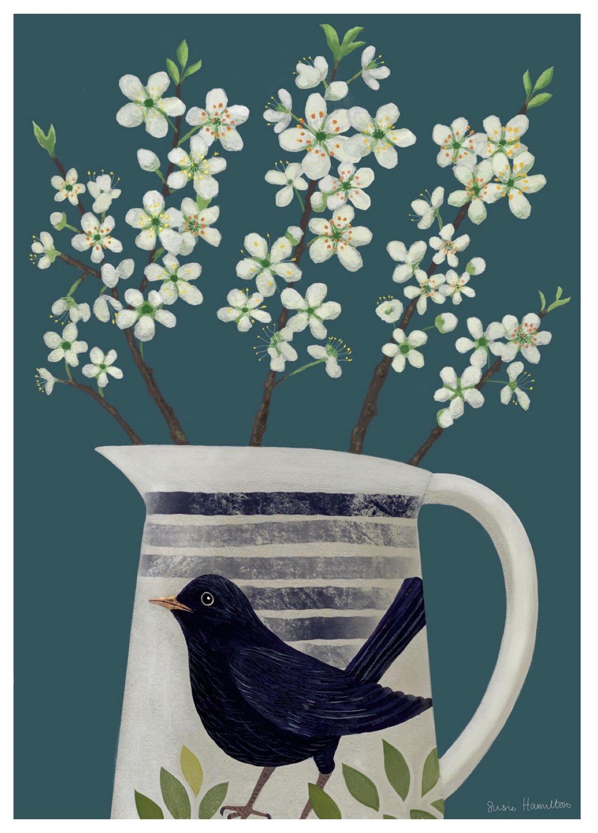 New: Blossom in Blackbird Jug
