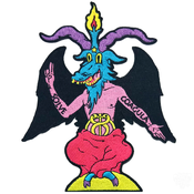 Image of Riot Style x Dima Drjuchin - Baphy Baphomet Embroidered Patch