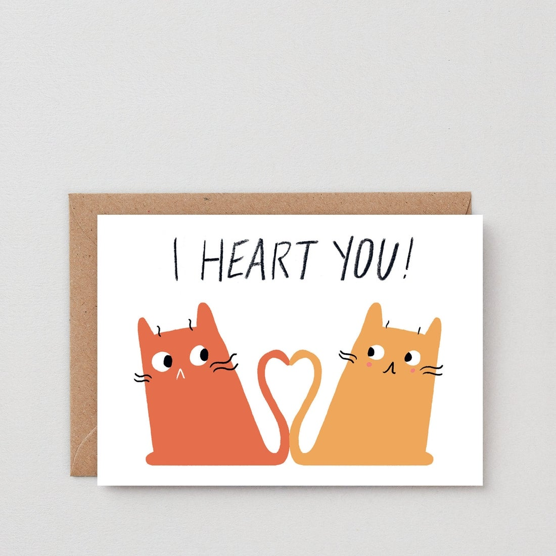 Image of Cats Heart Card