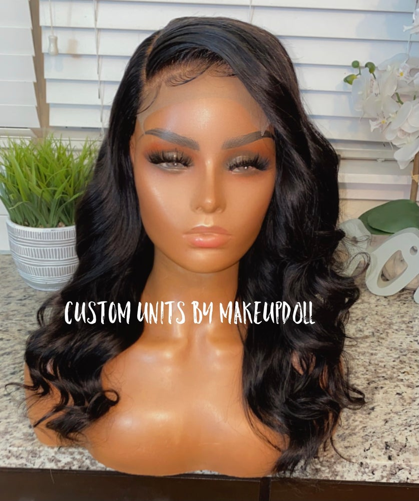"Image of Brazilian Body Wave 16"" HD 5x5 Lace Closure Wig"