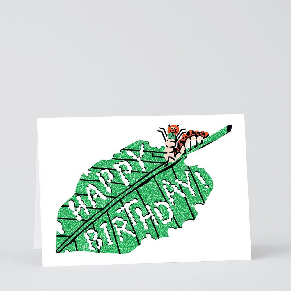 Image of Caterpillar Birthday Card